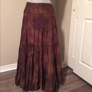 Tribal bohemian skirt